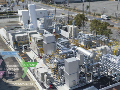Kawasaki Heavy Industries builds the world's 1st liquefied hydrogen receiving terminal