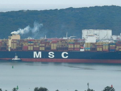 MSC Aries suffers container spill in the Pacific