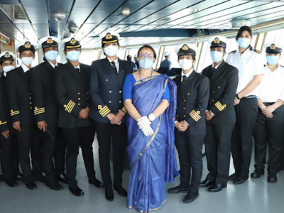 All-women crew of MT Swarna Krishna becomes first to pilot ship in maritime history