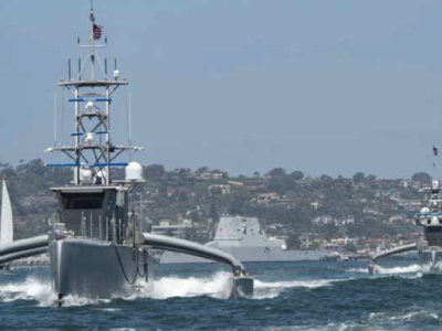 U.S. Navy's first-ever unmanned fleet exercise launches off West Coast