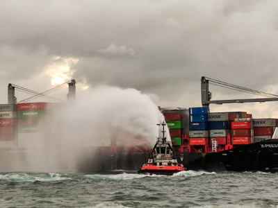 Containership battling fire for days in Sri Lanka