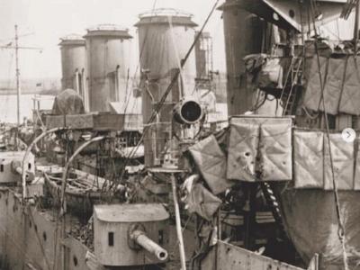HMS Chester at Battle of Jutland May 1916