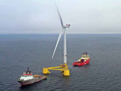 Four down, two to go: World's largest floating  wind farm off Aberdeen to complete next month