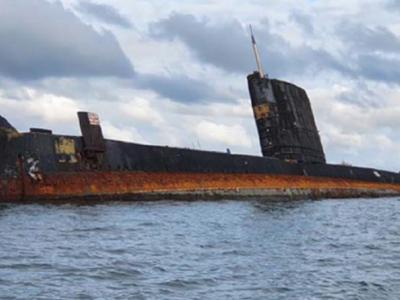 HMAS Otama listing, at 'imminent' risk of capsizing or sinking