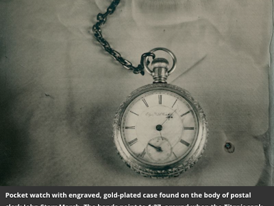 What a Watch Tells Us About the Titanic's Final Hours
