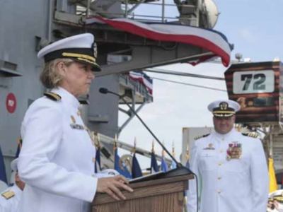 Navy Captain Makes History as First Woman to Command an Aircraft Carrier