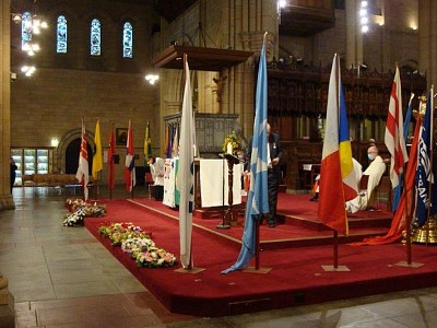 83rd SEAFARERS SERVICE AND WREATH LAYING, St John's Anglican Cathedral, Ann St, Brisbane.