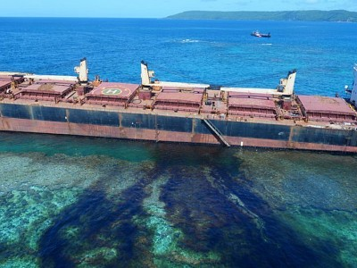 Solomon Islands oil leak: lack of night watch may have caused ship to run aground