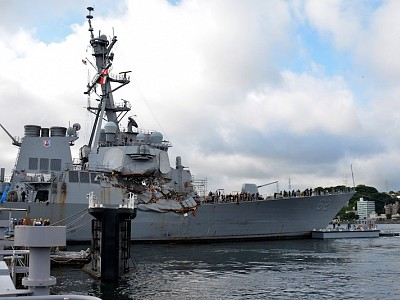 USS Fitzgerald Commander Temporarily Relieved; Destroyer Enters Dry Dock