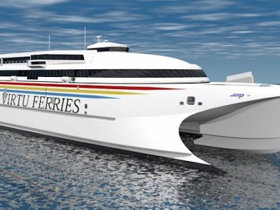 Incat's Virtu high speed ferry to be powered by Wartsila waterjets
