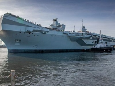 HMS Prince of Wales: New aircraft carrier sails for the first time