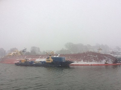 Swedish Waterway Cleared: Ardent Salvage Crews Refloated Capsized Cargo Ship Sterno