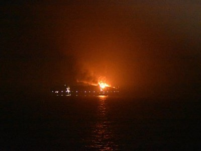 Serious fire on Maersk Line container vessel in the Arabian Sea