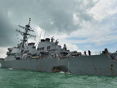 'Sudden turn' by warship USS John S. McCain caused collision which killed 10 sailors: Singapore investigation
