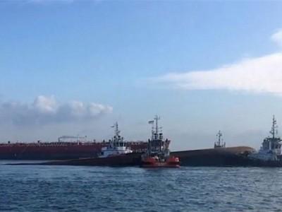 Collision of tanker Kartika Segara and dredger JBB De Rong 19 near Singapore