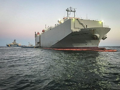 Extensive Damage Found on Grounded Car Carrier off Sweden