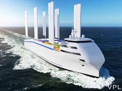 Energy Observer Vessel Fitted with Oceanwings® Wingsails, the Solution Devised by VPLP and CNIM to Decarbonize Maritime Transport