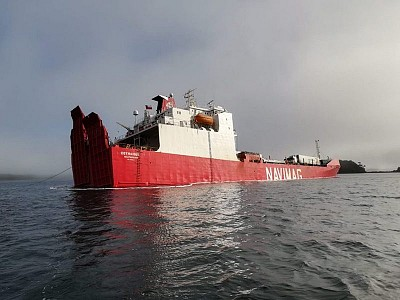Grounded RoRo with Livestock Onboard Listing Heavily off Chile