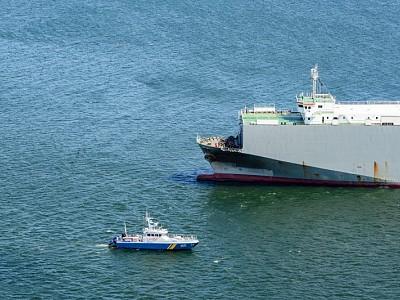 Car Carrier aground off Sweden