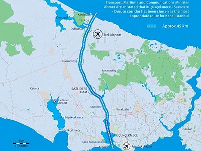 Turkey Announces Route for Kanal Istanbul