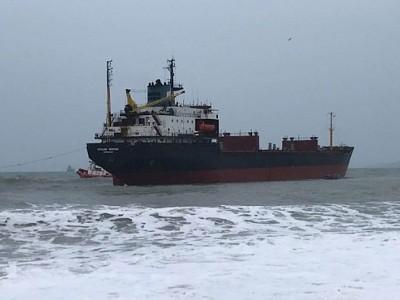 Grounding of bulk carrier Kuzma Minin
