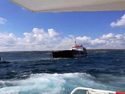 Cargo Ship Splits in Two off Turkey
