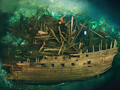 Cursed Warship Revealed With TreasureOnboard
