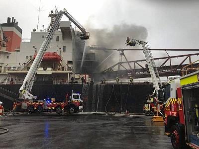 Conveyor belt blamed for 'extemely hazardous' fire aboard Iron Chieftain
