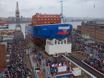 Third ROSATOM LK-60Ya-class ship launched at Baltic Shipyard