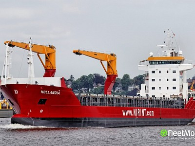 First cargo delivery from Antarctica in Montevideo by MV Trinitas