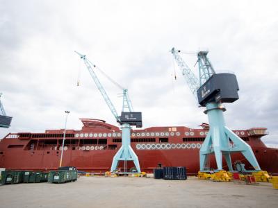 World's Largest Battery-Hybrid Ship Undergoes Finishing Touches