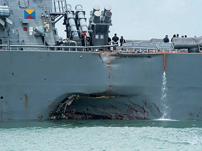 US Navy Ships to Become Less Stealthy in High Traffic Areas after Deadly Collisions