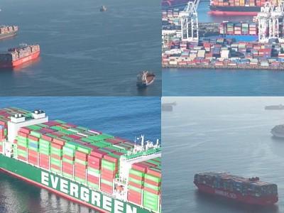 Scope of California box-ship traffic jam